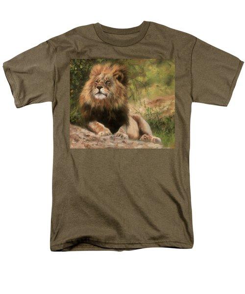 Lion Resting Men's T-Shirt  (Regular Fit) by David Stribbling