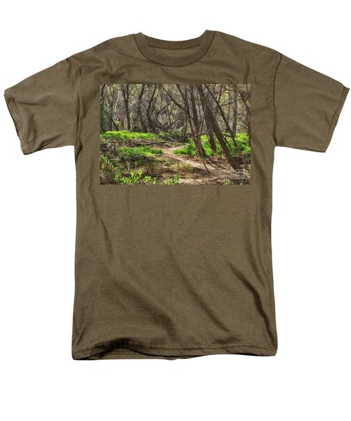 Lion Trail At Hassayampa Nature Reserve Men's T-Shirt  (Regular Fit) by Anne Rodkin