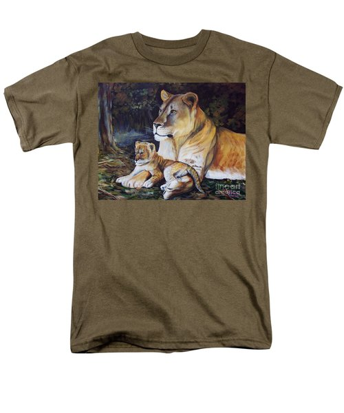 Lioness And Cub Men's T-Shirt  (Regular Fit) by Ruanna Sion Shadd a'Dann'l Yoder