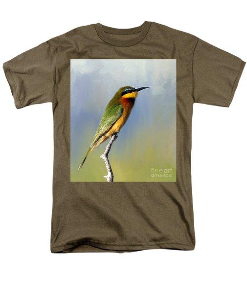 Men's T-Shirt  (Regular Fit) featuring the photograph Little Bee-eater by Myrna Bradshaw