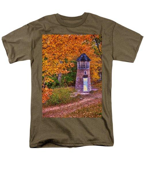 Men's T-Shirt  (Regular Fit) featuring the photograph Little Falls Autumn Lighthouse by Trey Foerster