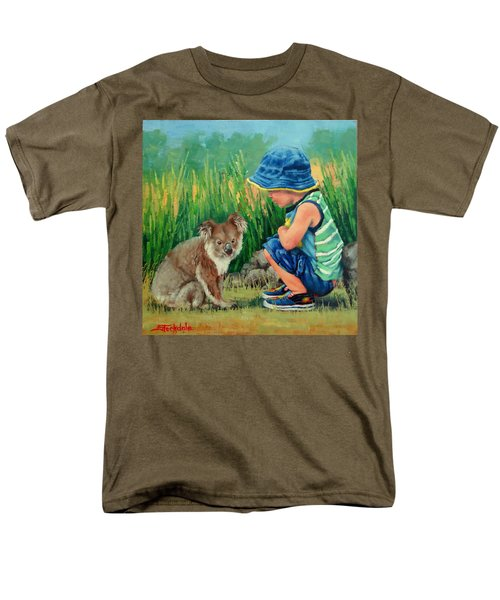 Men's T-Shirt  (Regular Fit) featuring the painting Little Friends by Margaret Stockdale