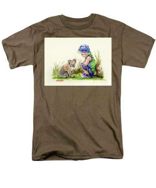 Men's T-Shirt  (Regular Fit) featuring the painting Little Friends Watercolor by Margaret Stockdale