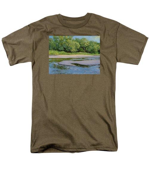 Little Sioux Sandbar Men's T-Shirt  (Regular Fit) by Bruce Morrison
