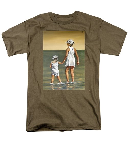 Men's T-Shirt  (Regular Fit) featuring the painting Little Sisters by Natalia Tejera