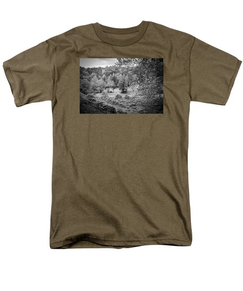Men's T-Shirt  (Regular Fit) featuring the photograph Little Victorian Farm House In A Mountain Field by Kelly Hazel