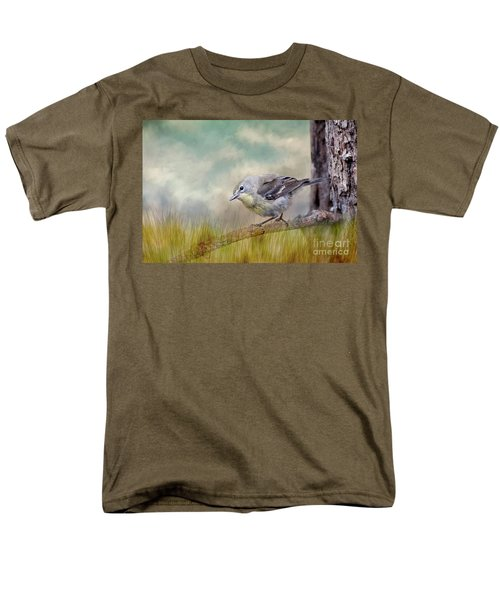 Men's T-Shirt  (Regular Fit) featuring the photograph Little Warbler In Louisiana Winter by Bonnie Barry