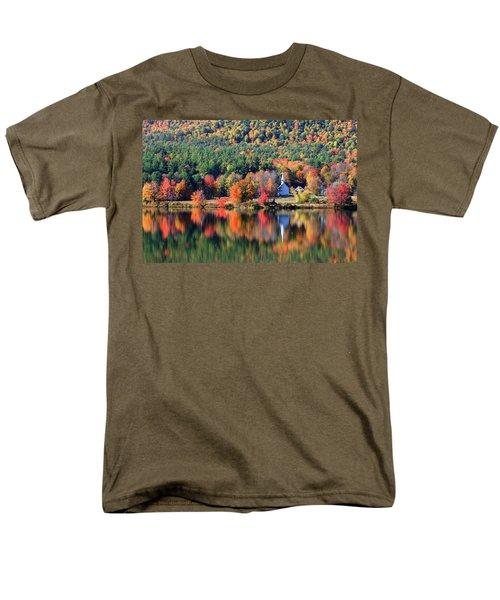 Men's T-Shirt  (Regular Fit) featuring the photograph 'little White Church', Eaton, Nh by Larry Landolfi