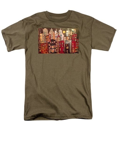 Lively City Skyline Men's T-Shirt  (Regular Fit) by Roxy Rich