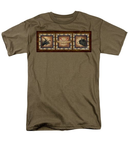 Men's T-Shirt  (Regular Fit) featuring the painting Lodge Panel by Joe Low