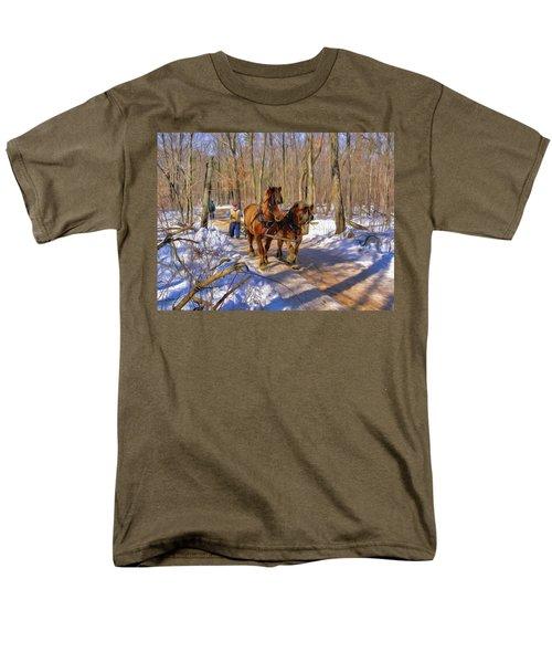 Logging Horses 1 Men's T-Shirt  (Regular Fit) by Trey Foerster