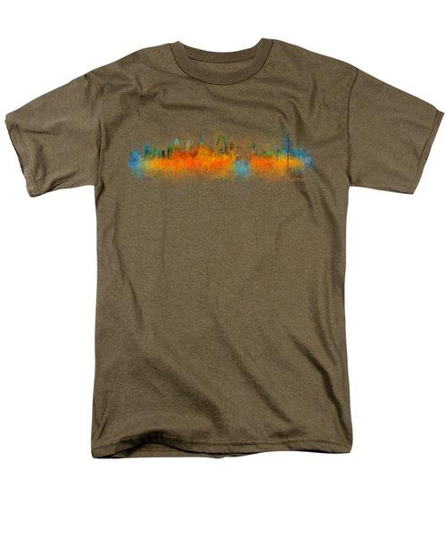 London City Skyline Hq V3 Men's T-Shirt  (Regular Fit)