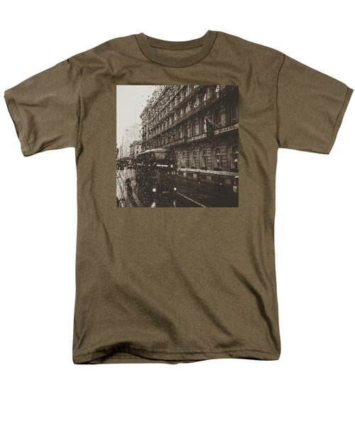 London Rain Men's T-Shirt  (Regular Fit) by Trystan Oldfield
