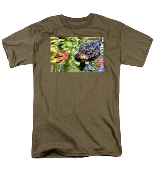 Men's T-Shirt  (Regular Fit) featuring the photograph Lonely Duckie by Elaine Malott