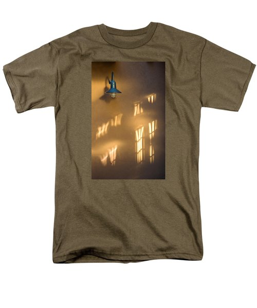 Men's T-Shirt  (Regular Fit) featuring the photograph Lonely Lamp Among Sunrise Window Light Reflections by Gary Slawsky