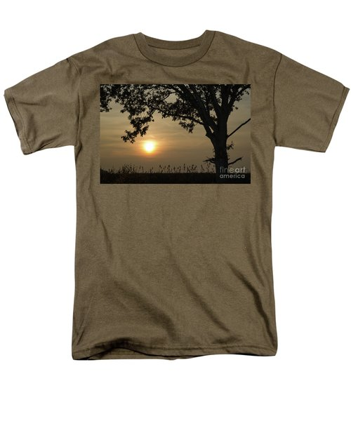 Lonely Tree At Sunset Men's T-Shirt  (Regular Fit) by Kennerth and Birgitta Kullman