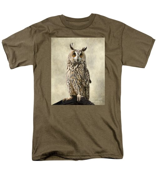Long Eared Owl Men's T-Shirt  (Regular Fit) by Linsey Williams