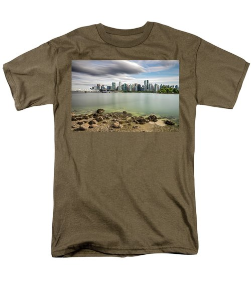 Long Exposure Of Vancouver City Men's T-Shirt  (Regular Fit) by Pierre Leclerc Photography