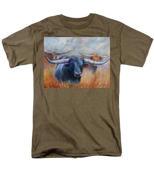 Longhorn Country Men's T-Shirt  (Regular Fit) by Karen Kennedy Chatham