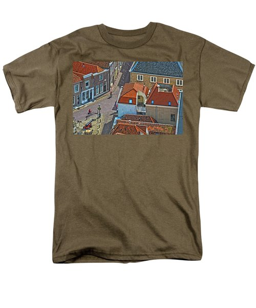 Looking Down From The Church Tower In Brielle Men's T-Shirt  (Regular Fit) by Frans Blok