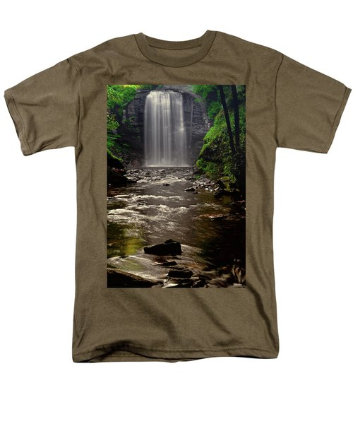 Men's T-Shirt  (Regular Fit) featuring the photograph Looking Glass Falls 009 by George Bostian