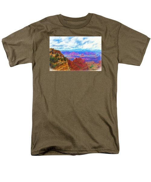 Men's T-Shirt  (Regular Fit) featuring the digital art Lookout Studio Sketched by Kirt Tisdale