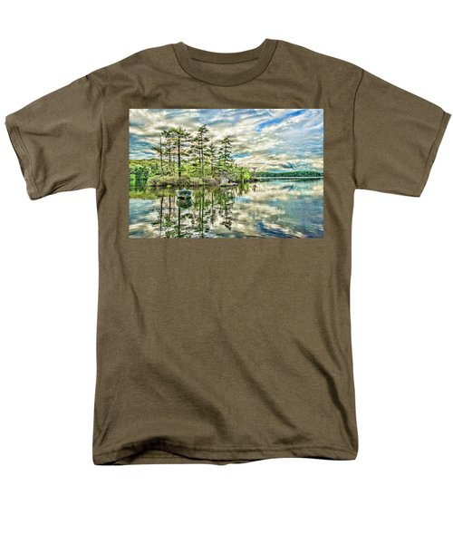 Loon Island Men's T-Shirt  (Regular Fit) by Daniel Hebard