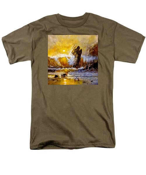 Men's T-Shirt  (Regular Fit) featuring the painting Lost In A Sunset.. by Cristina Mihailescu