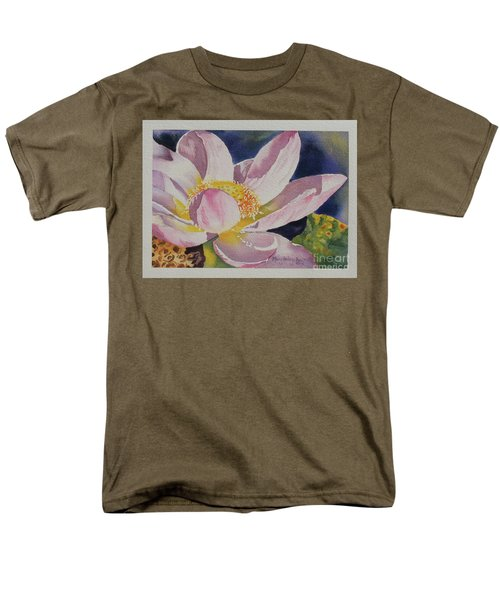 Lotus Bloom Men's T-Shirt  (Regular Fit) by Mary Haley-Rocks