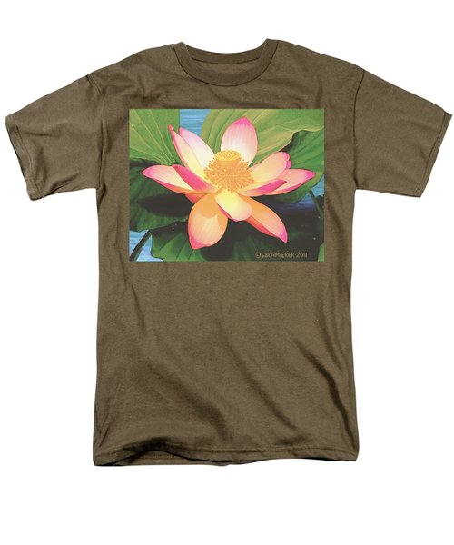 Men's T-Shirt  (Regular Fit) featuring the painting Lotus Flower by Sophia Schmierer