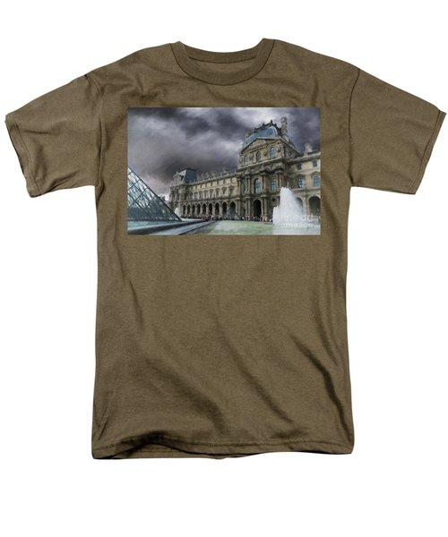 Men's T-Shirt  (Regular Fit) featuring the mixed media Louvre by Jim  Hatch