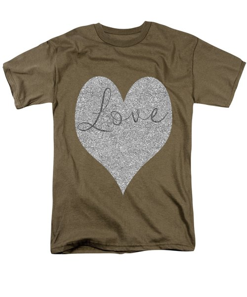 Love Heart Glitter Men's T-Shirt  (Regular Fit) by Clare Bambers