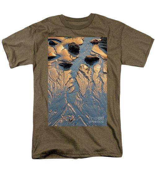 Men's T-Shirt  (Regular Fit) featuring the photograph Low Tide Flow, Kettle Cove, Cape Elizabeth, Maine  -66557 by John Bald
