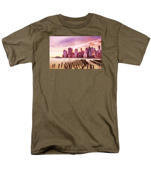 Lower Manhattan And Ferry Men's T-Shirt  (Regular Fit) by Rima Biswas