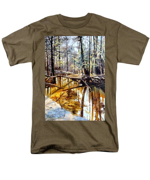 Men's T-Shirt  (Regular Fit) featuring the painting  Lubianka-2-river by Henryk Gorecki