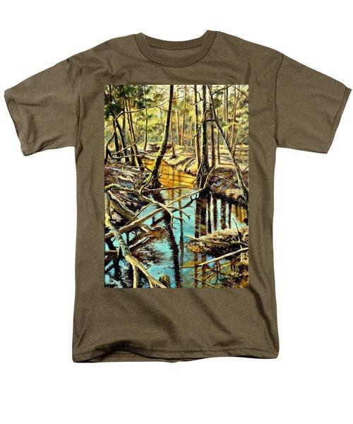 Lubianka-3-river Men's T-Shirt  (Regular Fit) by Henryk Gorecki