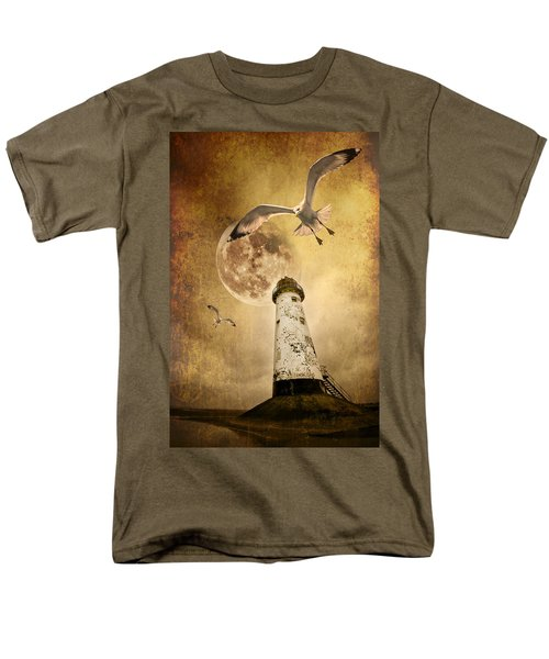 Men's T-Shirt  (Regular Fit) featuring the photograph Lunar Flight by Meirion Matthias