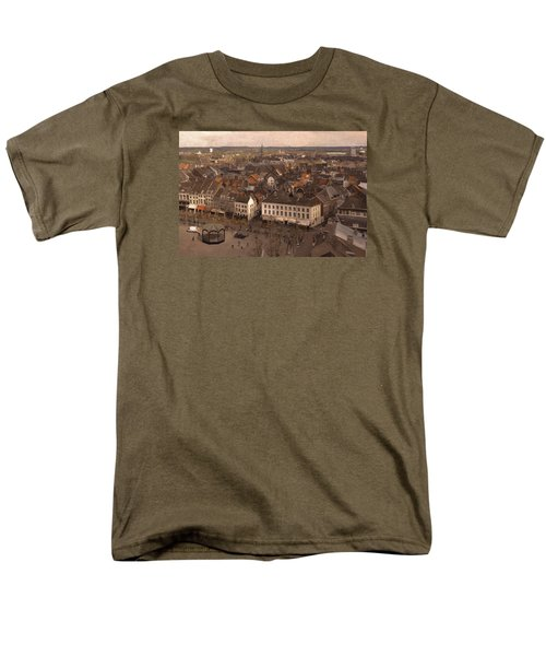 Men's T-Shirt  (Regular Fit) featuring the painting Maastricht Direction East by Nop Briex