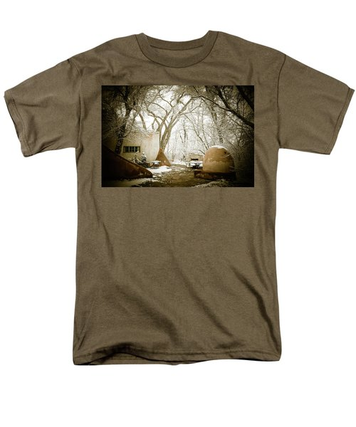 Men's T-Shirt  (Regular Fit) featuring the photograph Mabel Luhan Dodge Home Exterior by Marilyn Hunt
