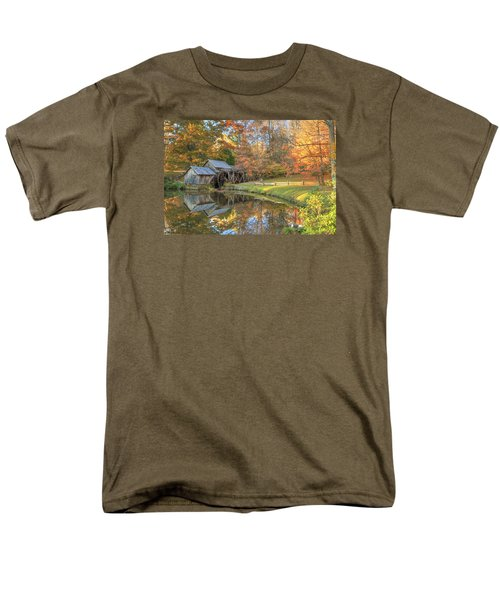 Men's T-Shirt  (Regular Fit) featuring the photograph Mabry Mill. Blue Ridge Parkway by Doug McPherson