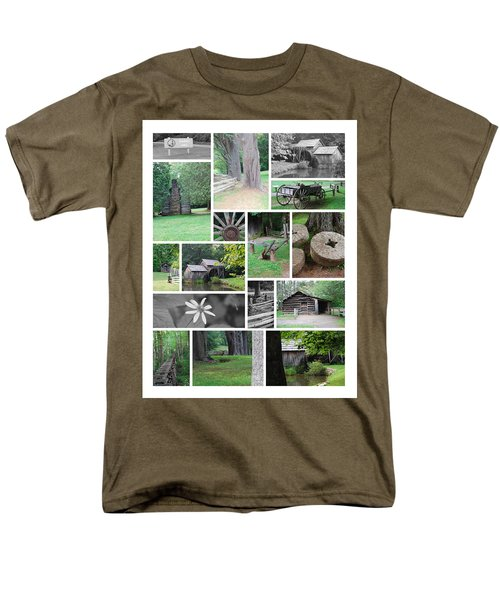 Mabry Mill Men's T-Shirt  (Regular Fit) by Eric Liller