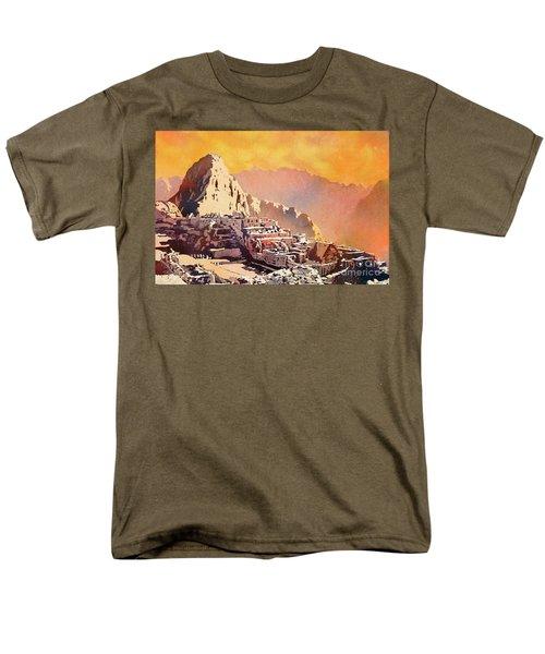 Men's T-Shirt  (Regular Fit) featuring the painting Machu Picchu Sunset by Ryan Fox