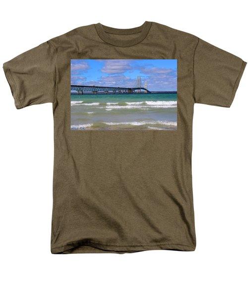 Mackinac Bridge Men's T-Shirt  (Regular Fit) by Michael Rucker