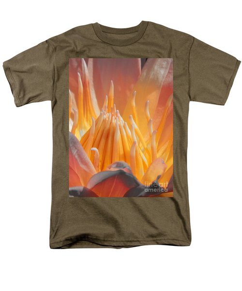 Macro Water Lily Men's T-Shirt  (Regular Fit) by Chad and Stacey Hall