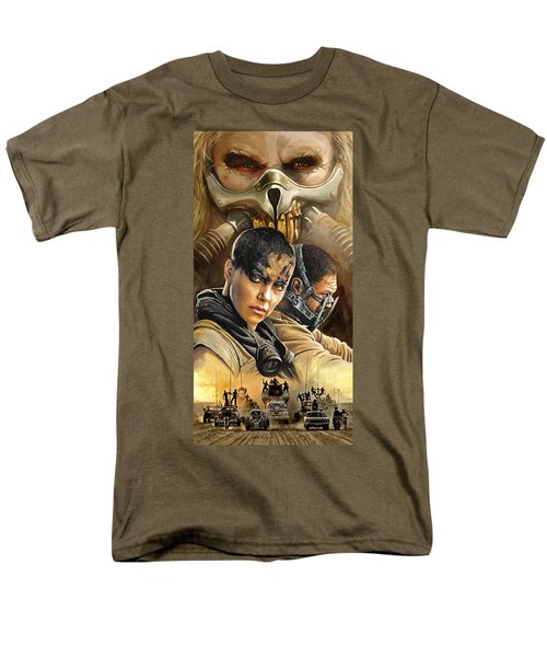 Men's T-Shirt  (Regular Fit) featuring the painting Mad Max Fury Road Artwork by Sheraz A