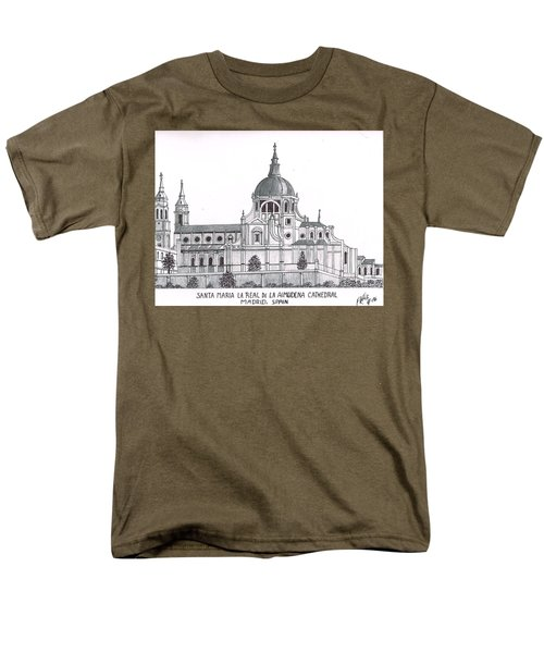 Madrid Cathedral Aimudena Men's T-Shirt  (Regular Fit) by Frederic Kohli