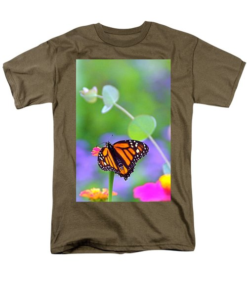 Men's T-Shirt  (Regular Fit) featuring the photograph Magical Monarch by Byron Varvarigos