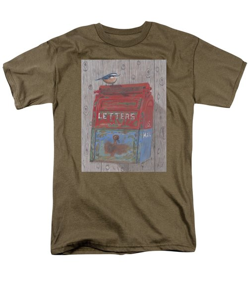 Men's T-Shirt  (Regular Fit) featuring the painting Mail Call by Arlene Crafton