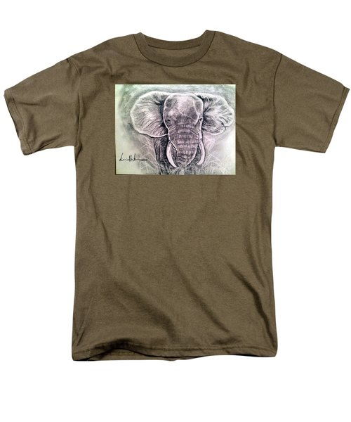 Men's T-Shirt  (Regular Fit) featuring the painting Majestic Elephant by Brindha Naveen
