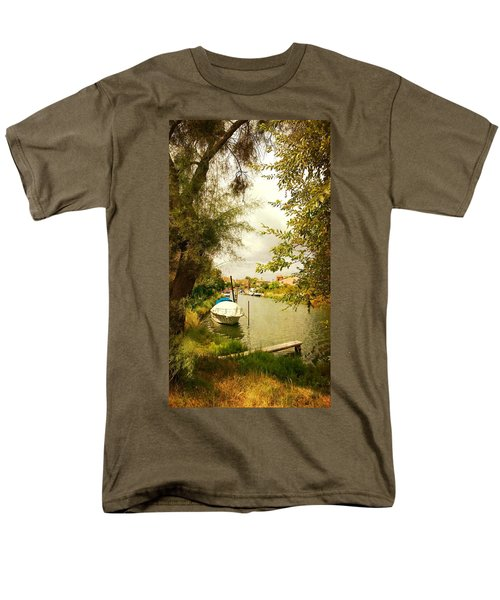 Men's T-Shirt  (Regular Fit) featuring the photograph Malamocco Canal No1 by Anne Kotan